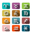 zodiac symbols colorful rectangles icons flat vector image