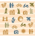 travel and landmarks icons vector image