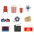 cinema set of design elements vector image