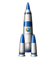 A rocket vector image vector image