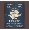 Halloween night party poster vector image