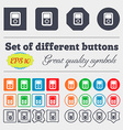 Tetris video game console icon sign Big set of vector image