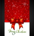 Christmas Greeting Card red background with vector image