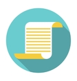 flat parchment icon vector image
