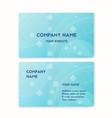 business card blue clean air vector image