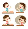 children taking medicine vector image