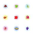 European Spain icons set pop-art style vector image