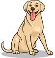 labrador retriever dog cartoon vector image