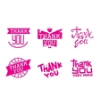 Thank you text lettering vector image