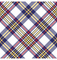 white blue pixel check seamless plaid pattern vector image
