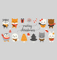 xmas character and elements vector image