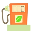 Eco gas station icon cartoon style vector image