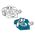 Smiling phone vector image vector image