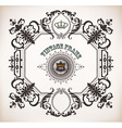 Floral frame with heraldic and design elements Bar vector image