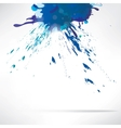Splash on abstract background vector image vector image
