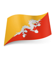 State flag of Bhutan vector image