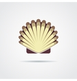 Shell symbol isolated on a white background vector image