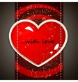 The Valentines day card vector image