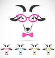 images of a goat wearing glasses vector image vector image