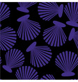 Shells seamless pattern vector image