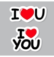 I Love You Sticker vector image vector image