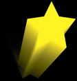 yellow star flying up in the dark vector image