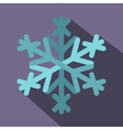 Snowflake icon flat style vector image