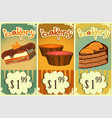 Cake price tags Vintage vector image vector image