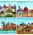 European Cityscapes Concept Icons Set vector image