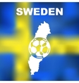 Swedish Abstract Map vector image