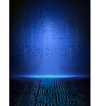 blue electronic background vector image