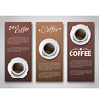Design coffee banners with a cup of coffee vector image