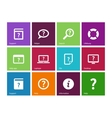 Help and FAQ icons on color background vector image