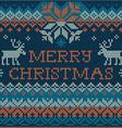Merry Christmas Scandinavian style seamless vector image