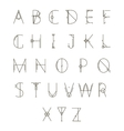 Modern geometric alphabet vector image