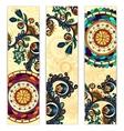 Paisley ethnic batik backgrounds vector image