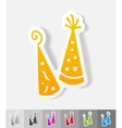 realistic design element Party Hat vector image
