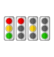 Types traffic lights Flat icons vector image