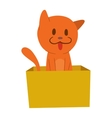Cartoon cat character vector image