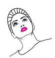 Beautiful lady with beehive hairstyle vector image vector image