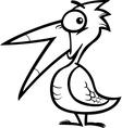 little bird cartoon for coloring book vector image