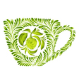 decorative ornament teacup vector image vector image