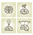 Brain icon - invention and inspiration symbols vector image vector image