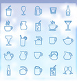 25 drinks icons set vector image