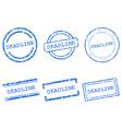 Deadline stamps vector image vector image