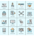 Online Education Icons Set vector image