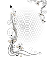 Corner twig and flower vector image vector image