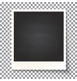 Old empty realistic photo frame vector image