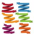 Set of old ribbon banner eps10 vector image