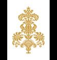stylized floral design element damask vector image